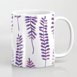 Watercolour Fern Pattern | Purple and Gold Coffee Mug