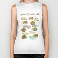biology Biker Tanks featuring Bagel Biology by Faye Finney