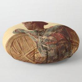 Tattooed Samurai Floor Pillow