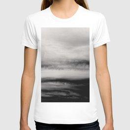 WHITE & BLACK TOUCHING #2 #abstract #decor #art #society6 T-shirt