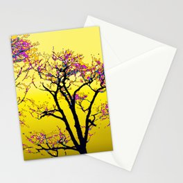 514 - Abstract Tree Sunset Design Stationery Cards