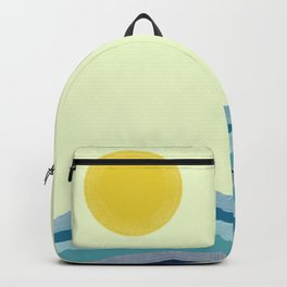 Sun Over the Water Minimalist Art Backpack