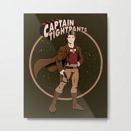 Captain Tightpants Metal Print