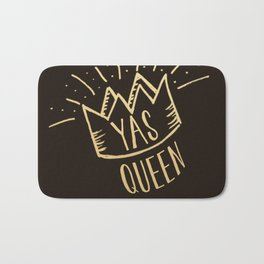 YAS QUEEN (gold on black) Bath Mat