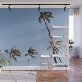Palm Trees and Moon Beams Wall Mural