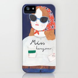 Miss Hangover iPhone Case