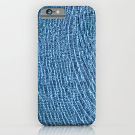 Blue Water Ripples iPhone Case