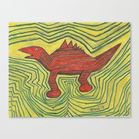 dino Canvas Prints featuring Dino by Huiskat