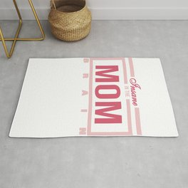 """Funny and hilarious tee design for kids out there! Grab this """"Insane in the Mom Brain"""" tee now!  Rug"""