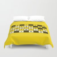 religion Duvet Covers featuring Religion numbs critical thinking  by Yuri Tamburrini