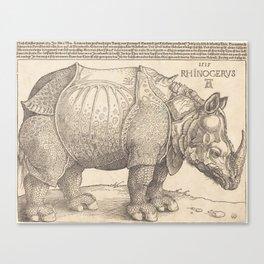 Albrecht Durer - The Rhinoceros, 1515 Canvas Print