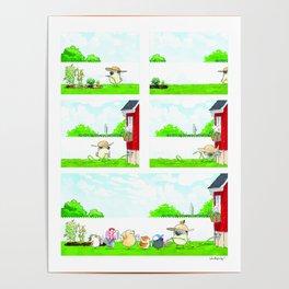 Pug Gardener Poster