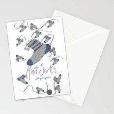 Knit Socks Stationery Cards
