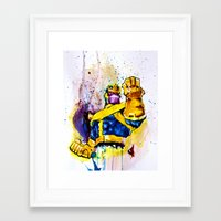 thanos Framed Art Prints featuring Thanos by hbCreative