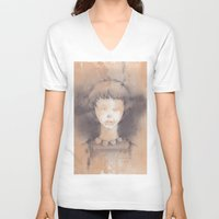 lucy V-neck T-shirts featuring Lucy by Shiro