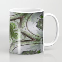 Green and Silver Tree Mist Part 1 Coffee Mug