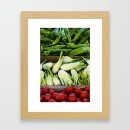 Graphic vegetables Framed Art Print