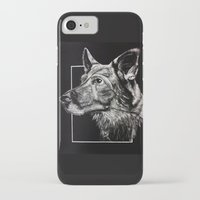 german shepherd iPhone & iPod Cases featuring German Shepherd by Ashley Anderson