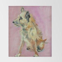 Marvelous Mystery Mutt Dog Portrait Throw Blanket