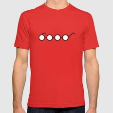 PAUSE – Four Eyes Mens Fitted Tee Red X-LARGE