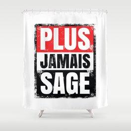 Plus Jamais Sage Shower Curtain
