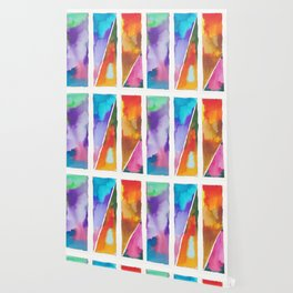 180811 Watercolor Block Swatches 3 | Colorful Abstract |Geometrical Art Wallpaper