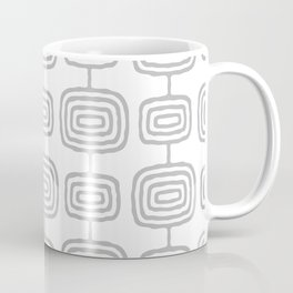 Mid Century Modern Atomic Rings Pattern Gray 3 Coffee Mug