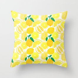 Lemon Harvest Throw Pillow