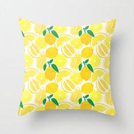 Lemon Harvest Throw Pillow