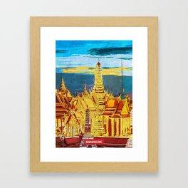 Bangkok city skyline Framed Art Print