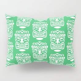 Tiki Pattern Green Pillow Sham