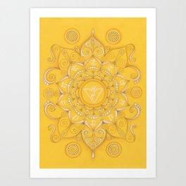 Mandala Chakra Manipura Art Print
