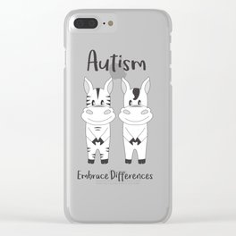 Autism Embrace Differences Clear iPhone Case