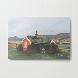 Lindarbakki House, Iceland Metal Print