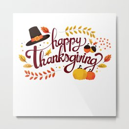 happy thanks giving Metal Print