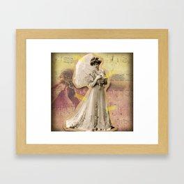 Vintage collage Framed Art Print