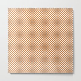 Topaz and White Polka Dots Metal Print