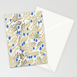 Olive Branches – Gold & Blue Stationery Cards