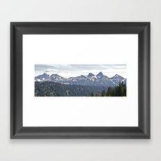 Smoky Skyline Framed Art Print