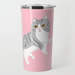 American Shorthair Mix Cat Travel Mug