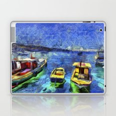 Boats and Sea Impressionist Art Laptop & iPad Skin