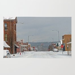 Snow in a Small City Rug