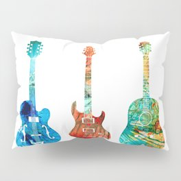 Abstract Guitars by Sharon Cummings Pillow Sham