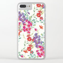 fresh floral spring scatter Clear iPhone Case