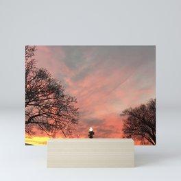Cold Crisp Sunset Mini Art Print