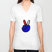 patriotic V-neck T-shirts featuring Patriotic 4 by gbcimages