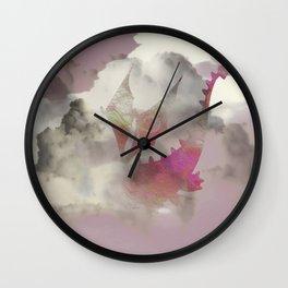 Pink Cloud Dragon Wall Clock