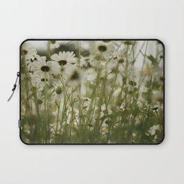 white daisies :) Laptop Sleeve