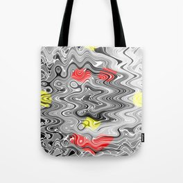 Absolute Abstract Grey Jiggle With Colour Splash Tote Bag