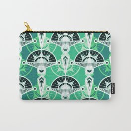 The art design. Retro . Green . Carry-All Pouch